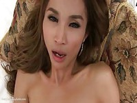 Rubbing dicks with asian shemale