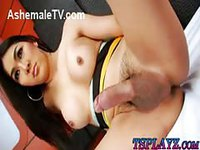 Gorgeous Asian Trans in a hot scene