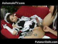 Asian shemale babes in maid costume