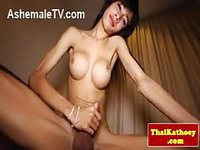 Asian ladyboy does a solo show