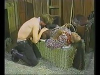 Hot black Tgirl fucked hard in the stables
