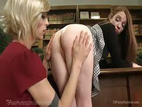 Crossdressing business woman fucks her horny receptionist