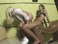 Hardcore shemale session for this hot blonde slut