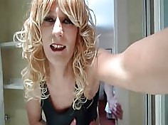 Hot-bodied transvestites bend over and take dick in their asses
