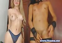 Two Hot Shemale Masturbate On Cam