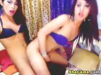 Hot teen shemale girlfriends exposing and playing live on cam