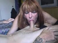 Cum hungry older shemale amateur Diannexxxcd bends over for doggystyle after sucking cock