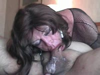 Soaking wet blowjob as transsexual newcomer Diannexxxcd shows off oral and anal sex skills
