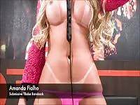 TS Amanda Fialho Blowjob And Bareback POV